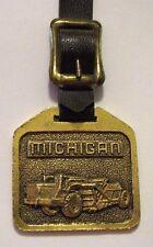 Michigan Elevated Scraper Tractor Pocket Watch Fob Miller Equipment Michigan