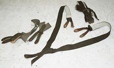 3x Original Bw Suspenders Bundeswehr Trousers Strap