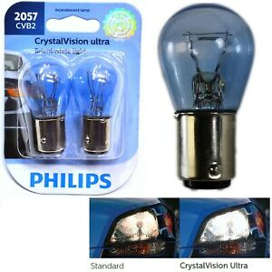 Philips Crystal Vision Ultra Light 2057 27/7W Two Bulb Front Turn Signal Replace