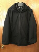 Calvin Klein NWT Size 2XLarge Women's System Hooded Jacket Coat 3 in 1 Black