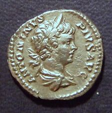 CARACALLA SILVER - TROPHY & CAPTIVES-EXTREMELY SCARCE! (RRR). ALLS COINS MELTED