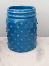 Ceramic Bathroom Pot/Tooth Brush Holder New Blue