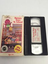 Barney Purple Dinosaur Goes To School - Vhs Video - 1990
