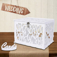 Wedding Card Box With Lock Wooden White Unique Wedding Anniversary Home decor