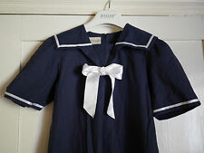 Laura Ashley Vintage Mother & Child Nautical Navy Girls Dress age 11 - 12 years