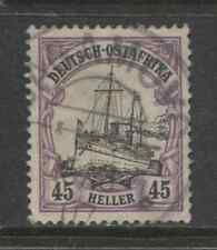 1905 German colonies EAST AFRICA  45 Heller  used, -BAGAMOYO-  € 110 signed