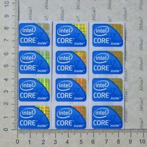 intel Core i7 Sticker (1st 3rd 4th 6th 7th 8th 9th 10th Gen) Sticker x 12 PCS