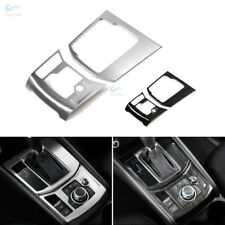 Stainless Steel Brushed Texture Gear Shift Panel Cover For Mazda CX5 2017 2018
