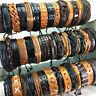 Wholesale 30 Pcs Handmade Mixed Retro Cuff Leather Bracelets Fashion