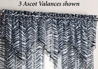 Kenya Zebra Ascot Valance Black/White 40 x 24