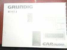 Grunndig MS411 una radio CD Manual/MANUAL