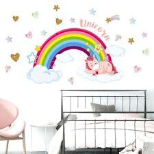 Rainbow Cartoon Unicorn Wall Sticker Children's Bedroom Nursery DIY Vinyl  Nice