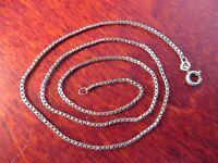 Schöne 925 Silber Kette Venezianerkette Eckig Vintage Edel Elegant Designer FBM