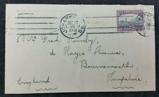 South Africa 1931 2d Cover Johannesburg  to Hayes Avenue, Bournemouth