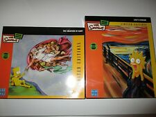 Simpson's Jigsaw puzzles Brand New The Creation Of Bart and Lisa's Scream.