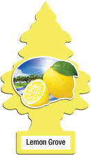 10 Pack Lemon Grove Scented Little Trees Hanging Car Air Fresheners