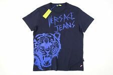 VERSACE JEANS EB3GSA77IE36609 NAVY BLUE XL TIGER ART TSHIRT MENS DEFECT