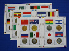 United Nations - 2006 Flags & Coins MNH sheet set