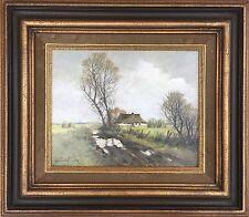 Bernd Funke * 1902-reetdach casa-Schleswig Holstein Heide del norte de Alemania