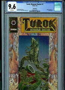 Turok #1 CGC 9.6 NM+ Gold Logo Variant Valiant Comic 1993 Amricons K17