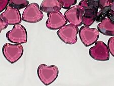 10pc Vintage Crystal SWAROVSKI Heart lot Rhinestones DKP unfoiled no hole 10mm