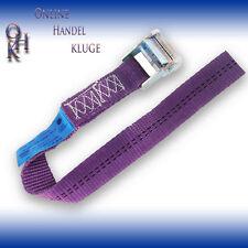 2er Pack Spanngurt, Zurrgurt mit Klemmschloss Violett 35 mm 800 daN L= 0,5 m