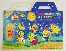 1988 Wendy's Kid Meal Box - Playskool Glo Friends in Glo Land NOS