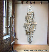Modern Abstract Silver Metal Wall Art Sculpture Original By Artist Jon Allen