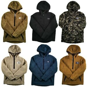 Boys The North Face Jacket Campshire Pullover Sherpa Fleece Warm Soft Hoodie