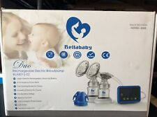 Bellababy Rechargeable Double Electric Breast Pump Pain Free Open Box