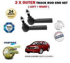 FOR DODGE AVENGER 2.0DT 2.0 2.4 2007-> NEW 2 x OUTER TRACK TIE RACK ROD END SET