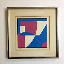 "Vintage VTG Mid Century Modern Abstract Geometric Framed Art Print ""Sartur""?"