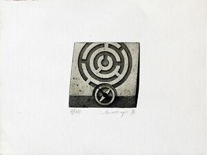 FRIEDRICH MECKSEPER - Labyrinth (1976). Handsignierte und nummerierte Radierung.