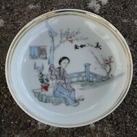 Chinese Antique saucer dish from end of Qing, early republic period