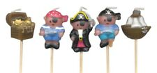 Pirates, Treasure and Ship Mini Toothpick Candles - set of 5