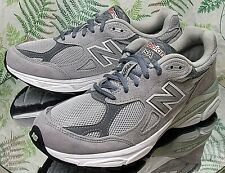 NEW BALANCE USA 990V3 GRAY SNEAKERS RUNNING WALKING WORK SHOES WOMENS SZ 9 2A