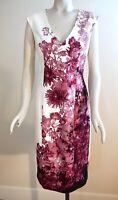 NWT $160 White House Black Market Sleeveless Floral Print Sheath Dress, Size 12