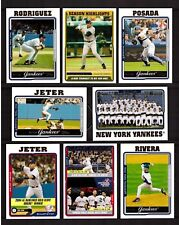 2005 Topps NEW YORK YANKEES Team Set Series 1 & 2 with Update 43 Cards