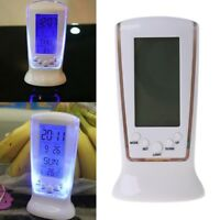 New Digital LED LCD Table Desk Travel Alarm Clock Calendar Thermometer