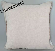 "Hotel Collection Linen Embroidered 20"" Square Decorative Pillow Dusty Rose"