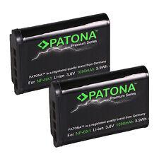 2x Batteria Patona Premium 850mah li-ion per Sony HDR-AS10,HDR-AS100V,HDR-AS15