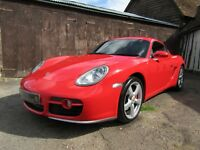PORSCHE CAYMAN S MANUAL *** Guards Red *** 64k Miles *** AUCTION ***