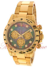 Rolex Daytona Tahitian Mother of Pearl Diamond Dial Yellow Gold Bracelet 116528