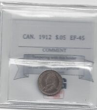 **1912**,Coin Mart Graded Canadian,  5 Cent, **EF-45**