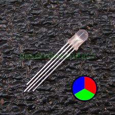 5pcs RGB LED Diffused Lens 5mm Common Cathode 4-Pin Red Green Blue USA 5x V28