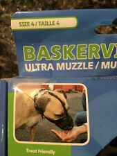 Baskerville Ultra Muzzle for Dogs, Size 4 - Black Used