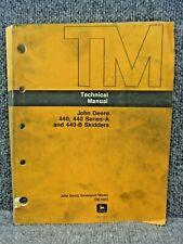 Oem Factory John Deere 440 440a 440b Skidder Technical Service Manual Tm 1009