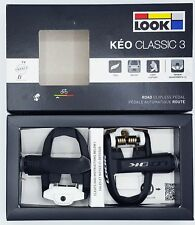 Look Keo Classic 3 Pedale black/white + Schuhplatten + Schrauben