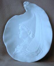 Antique French Bachelet faïence Minton PARIAN porcelain plaque Chargeur bretonne