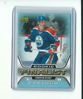 WAYNE GRETZKY ud ROOKIE FINALIST CARD # 73